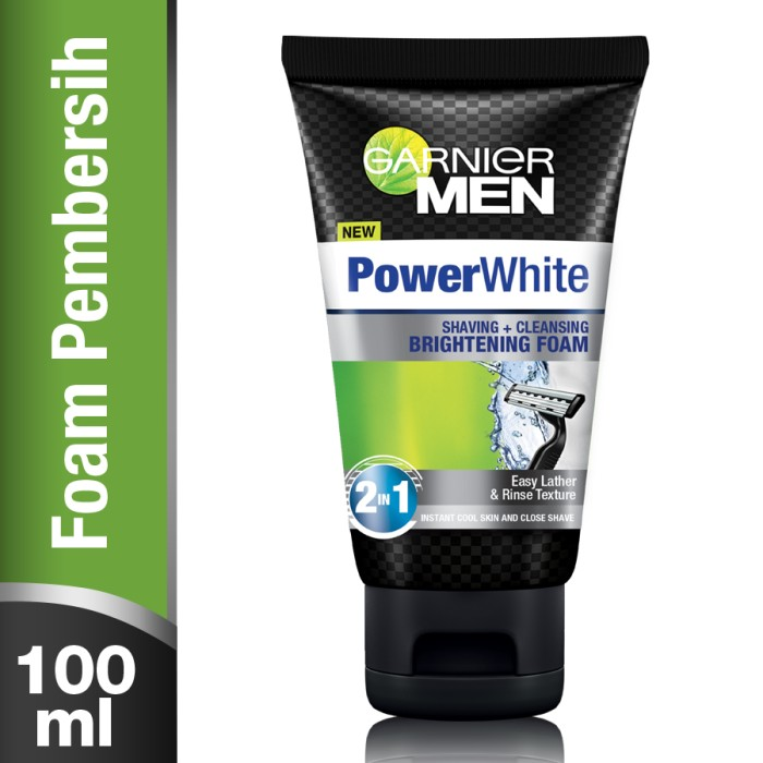Garnier Men Power White Shaving & Cleansing Brightening Foam - 100 ml