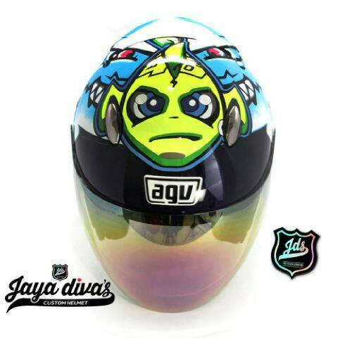harga Helm half face rossi shark via via moto gp Tokopedia.com