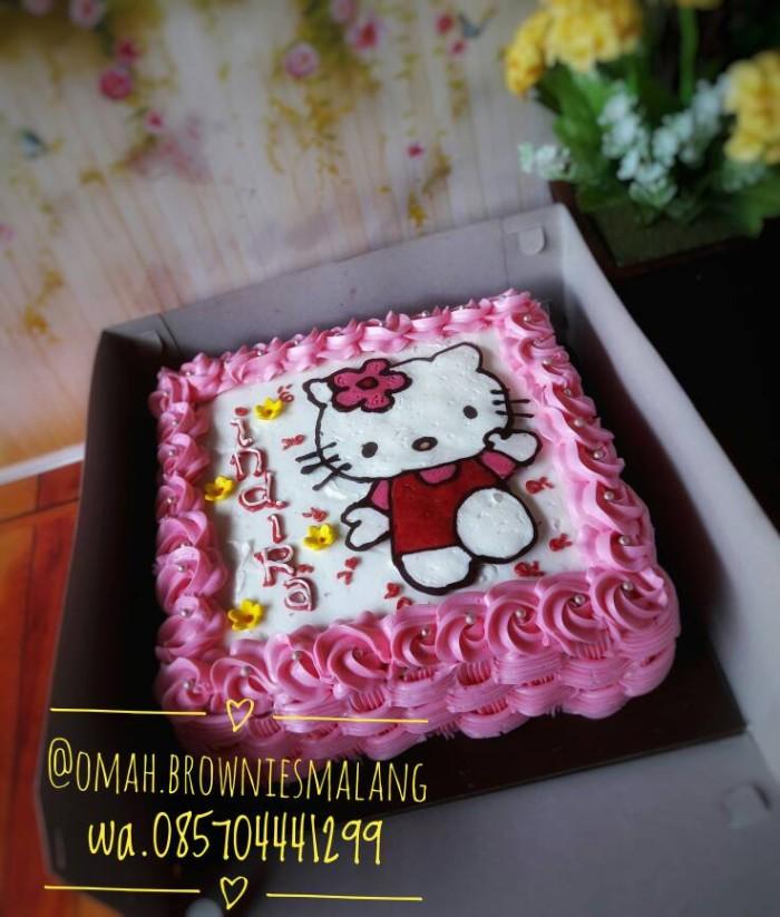 Jual Kue Ulang Tahun Hello Kitty Kota Malang Omah Brownies Malang Tokopedia