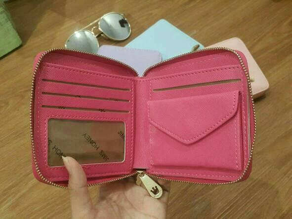 9 Jims Honey Dompet Kecil Wanita Crown Wallet Hotpink