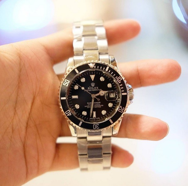 WATCH ROLEX SUBMARINE RING FULL BLACK AUTOMATIC MOVEMENT, D:4.0mm, CHR