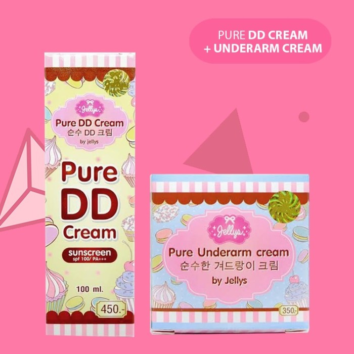 [DD CREAM+UNDERARM] Paket DD CREAM+UNDERARM Jellys Pure .