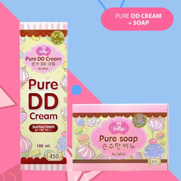 JUAL GROSIR SOAP+DD CREAM PAKET SOAP+DD CREAM JELLYS PURE THAILAND ORIGINAL ASLI