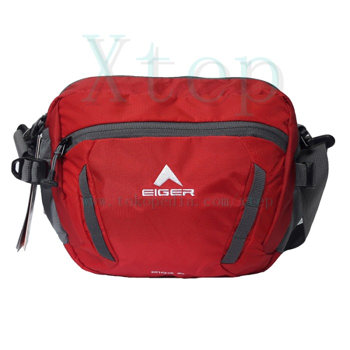 Tas Selempang Pinggang Eiger 4126 Riga 6 Red Waist Bag Pria/wanita