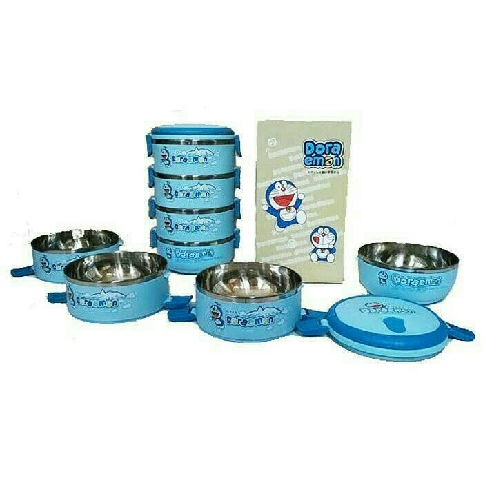 ... Lunch Box Doraemon Rantang Kotak Bekal Stainless 4 Susun