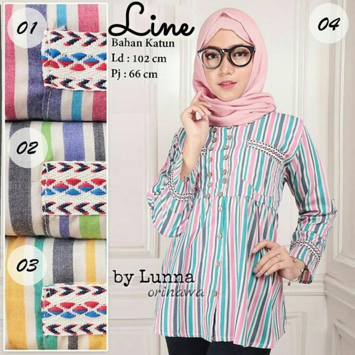 Baju Atasan Tunik Blouse Muslim Wanita LINE