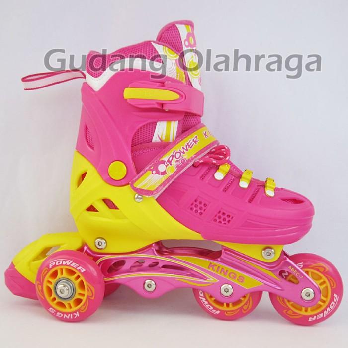 harga Sepatu roda bajaj ban karet / inline skate pu wheels anak dan dewasa Tokopedia.com