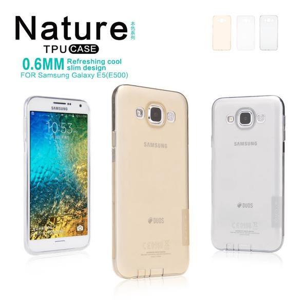 Nillkin Tpu Case Nature Tpu Samsung Galaxy E5 E500 Greyabu Daftar