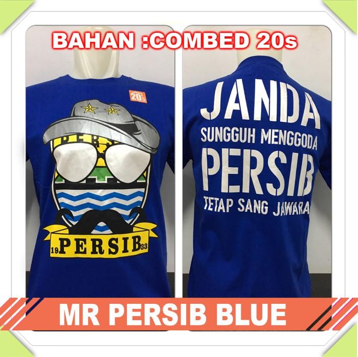 harga Kaos murah/t-shirt distro club bola mr persib blue bobotoh/viking Tokopedia.com