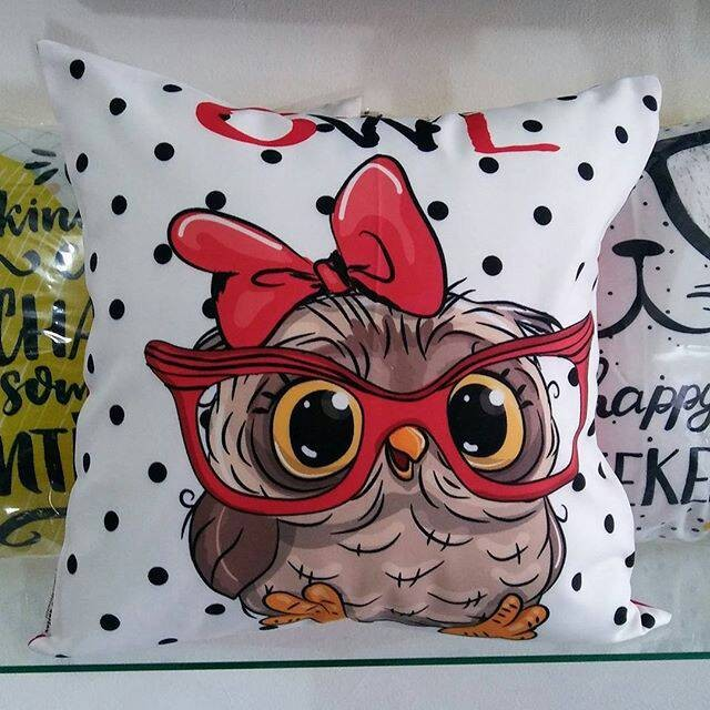 Sarung bantal unik cantik lucu sofa / kursi owl 2