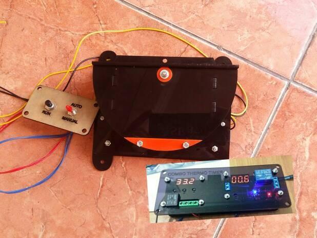 Foto Produk Aktuator Pemutar Rak Mesin Tetas Otomatis, + Thermostat + Timer dari Indoriva OnLine