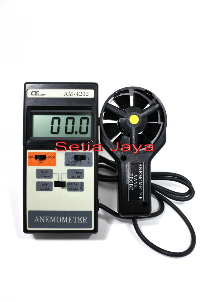 Foto Produk Anemometer + Temperature Lutron AM-4202 Harga Distributor dari Setia Jaya GM
