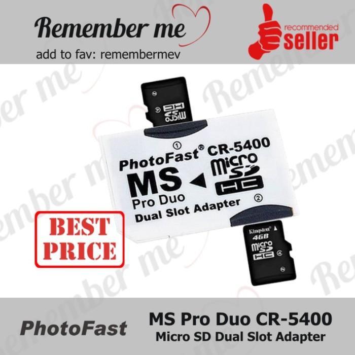 harga Photofast micro sd dual slot converter adapter pro duo Tokopedia.com