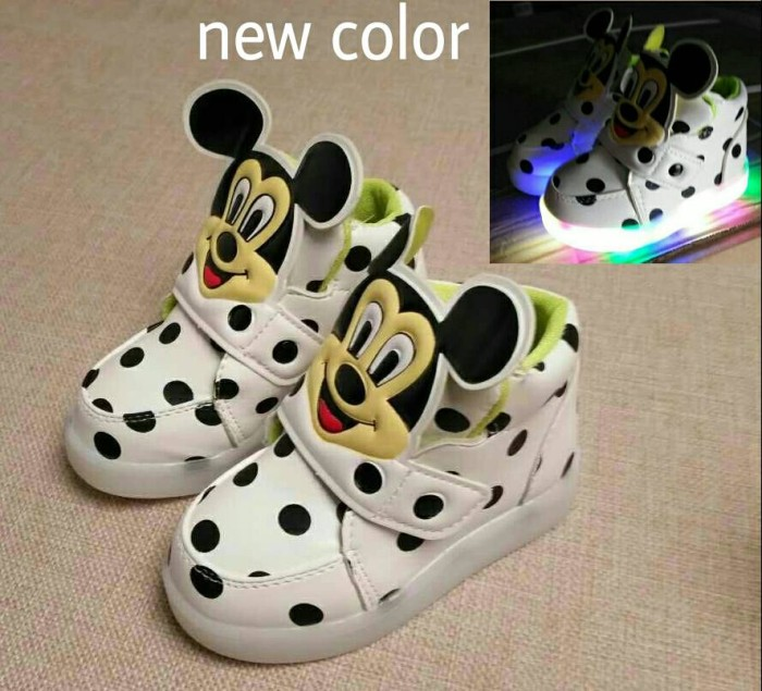 Sale murah - boots mickey mouse white lampu led anak import karakter