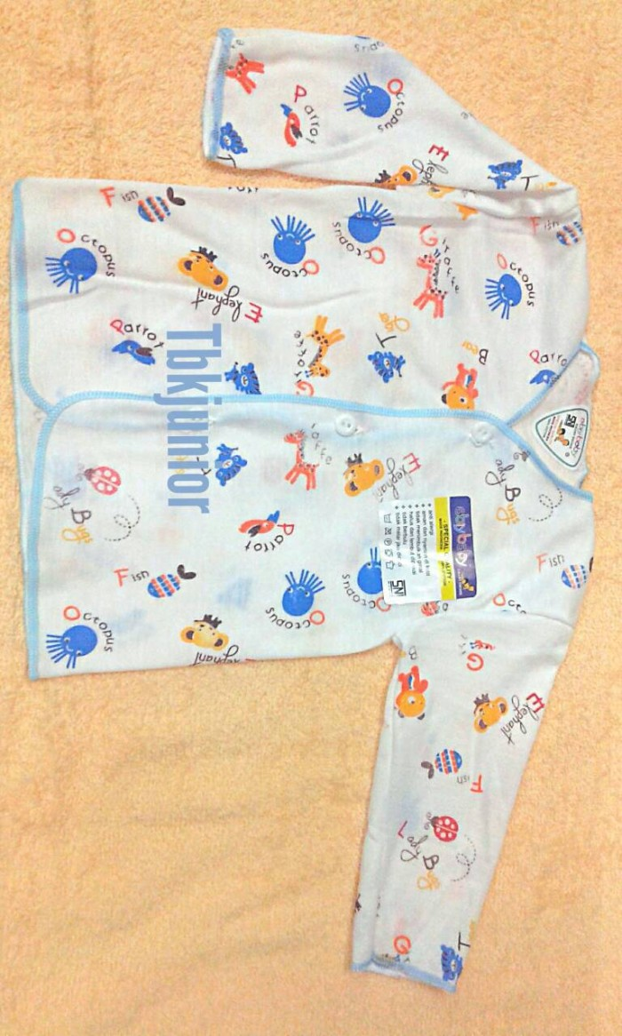 Baju atasan bayi baru lahir/newborn lengan panjang ABIY BABY ber SNI