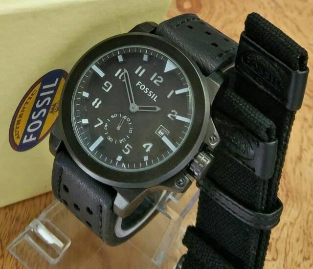 Jual Jam Tangan Pria FOSSIL Paket Detik Bawah Kulit Full Black - Jam ... 7db083275e