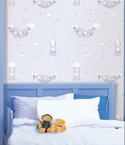 Hyundae fixpix wallpaper sticker gp 11506 dreamland blue 50cm x 15m