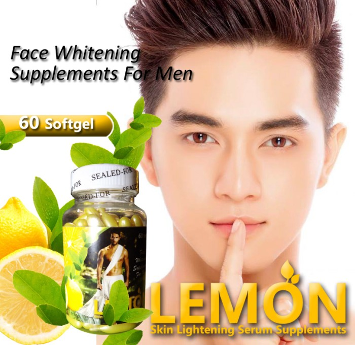 Lemon serum pemutih khusus wajah (glutamen best seller)