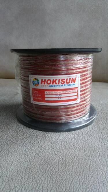 harga Kabel transparan / audio speaker 2x30 x 100 m Tokopedia.com