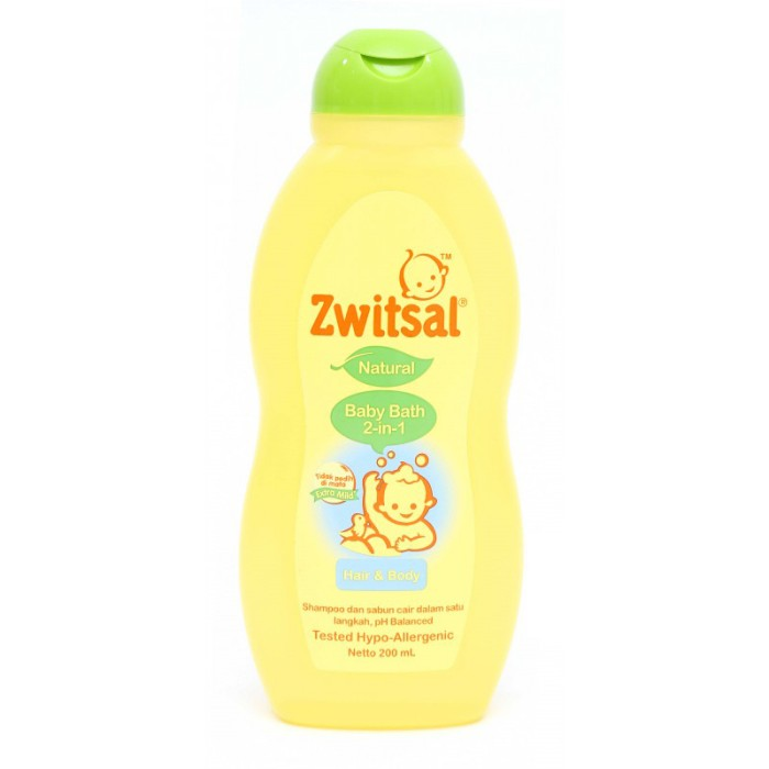 Zwitsal Baby Bath Natural Hair & Body 200ml