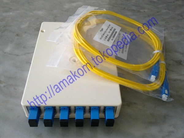 harga Roset optik ftth / indoor optical outlet 6 core sc lengkap (panjang) Tokopedia.com
