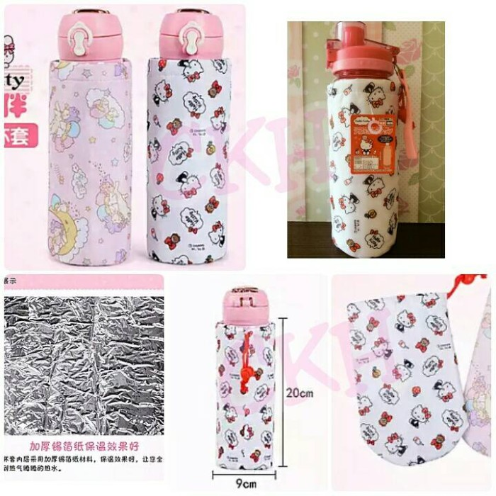 Foto Produk tas botol hello kitty ori / alumunium bottle coller bag hello kitty dari CHINGZ KITTY HOUSE