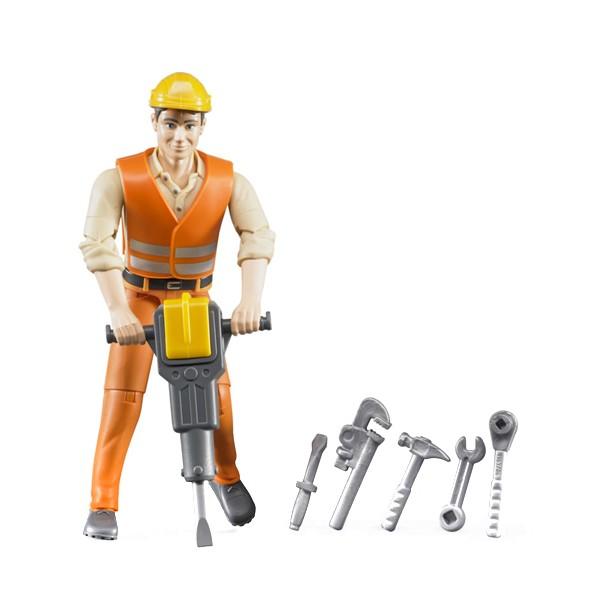 harga Bruder 60020 construction worker w/ accessories action figure - mainan Tokopedia.com