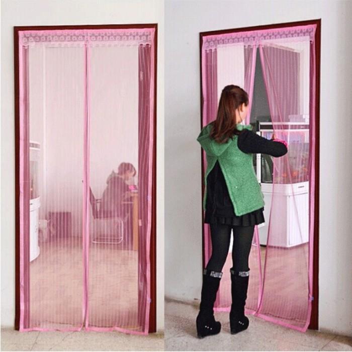 harga Tirai pintu magnet anti nyamuk magic mesh magnetic curtain gorden unik Tokopedia.com