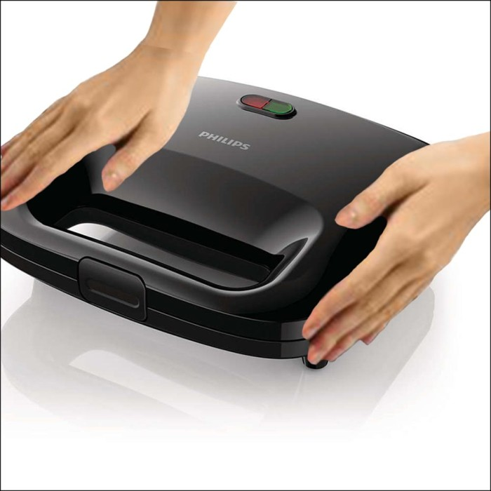 PHILIPS SANDWICH MAKER HD2393 / PEMANGANG ROTI HD 2393 WARNA PUTIH