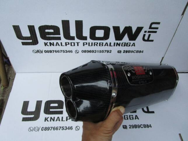 Knalpot yoshimura r77 double hole karbon (silincer only)
