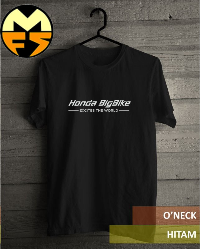 harga Kaos shirt honda big bike import black Tokopedia.com