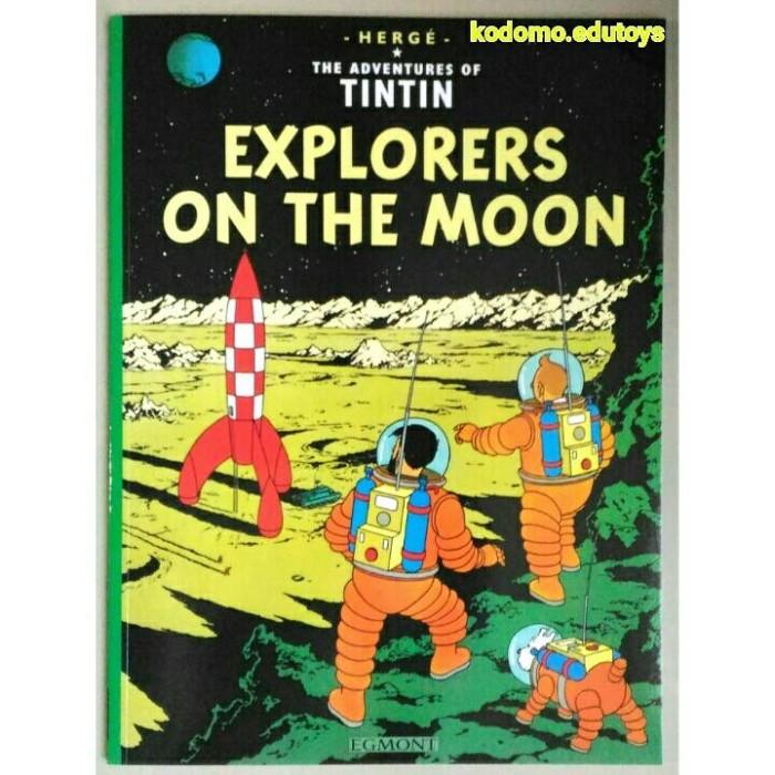 harga The adventures of tintin explorers on the moonbuku komik import Tokopedia.com