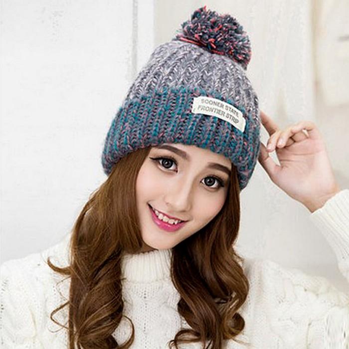 Jual Promo Topi Kupluk Rajut Wool Import POM untuk Winter - Gendizz ... ad115ce6ca