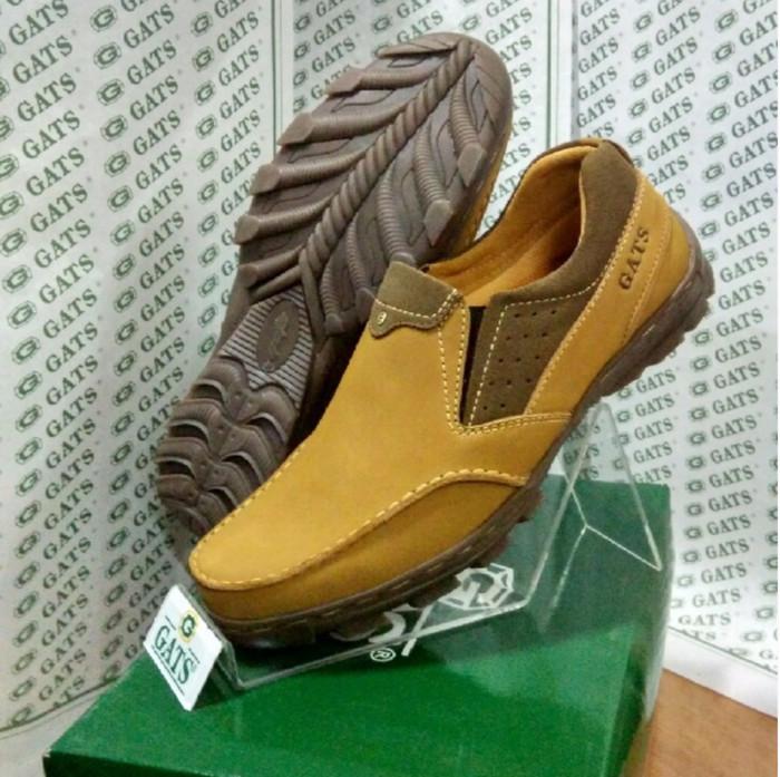 Jual Sepatu Gats Original Casual Pria Slip Kulit Asli Terbaru Tan