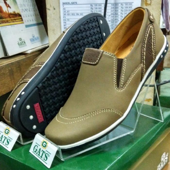 harga Sepatu gats original casual pria slip kulit asli terbaru camel pn 9903 Tokopedia.com