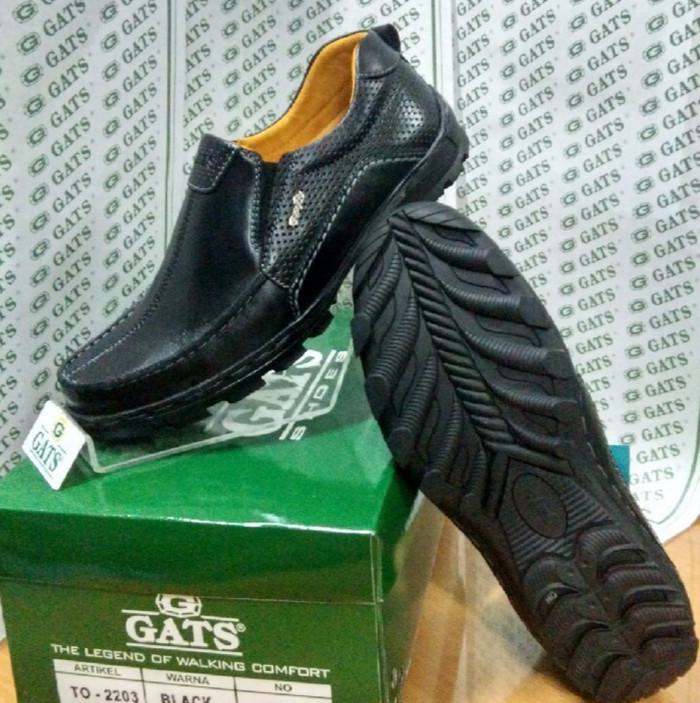 harga Sepatu gats original casual pria slip kulit asli terbaru hitam to 2203 Tokopedia.com