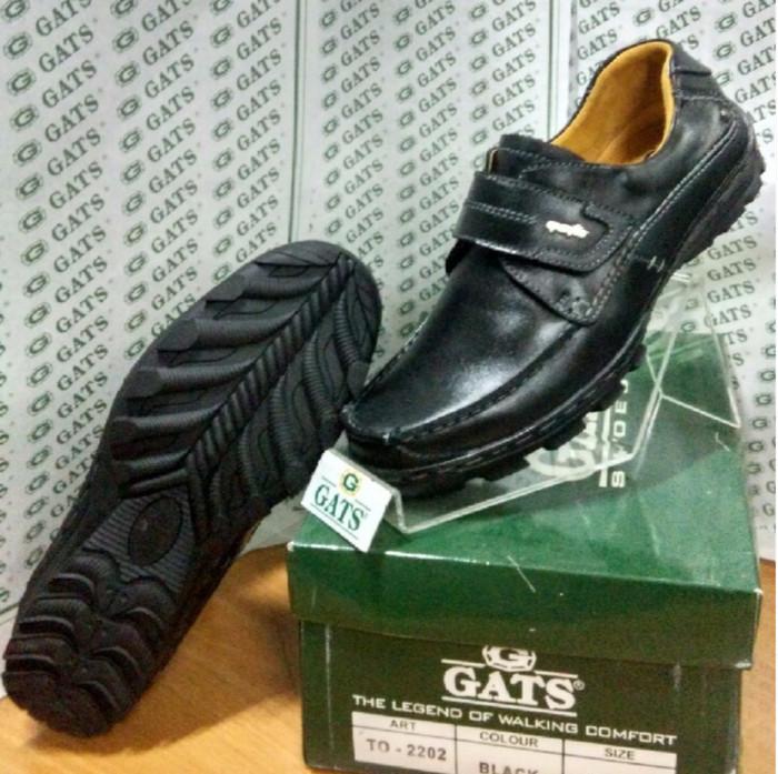 harga Sepatu gats original casual pria slip kulit asli terbaru hitam to 2202 Tokopedia.com