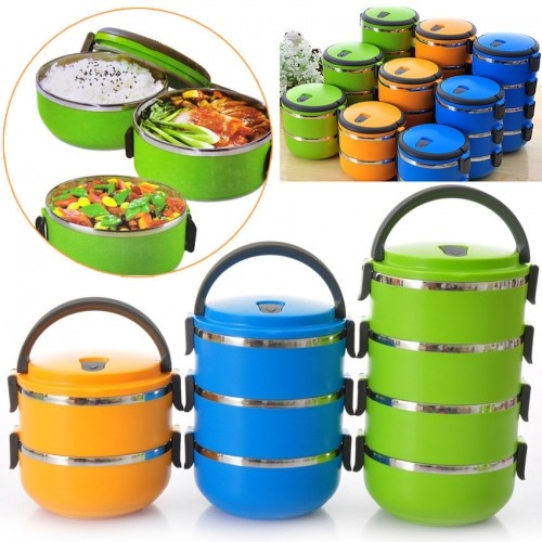 ECO LUNCH BOX STAINLESS STEEL RANTANG 4 SUSUN