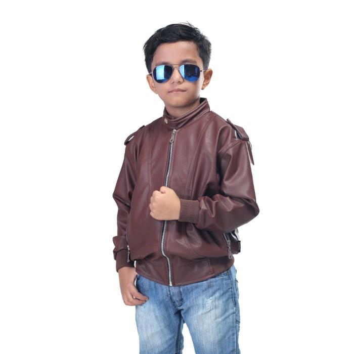 harga Jaket biker anak jaket anak aki-laki model motoris bahan viena Tokopedia.com