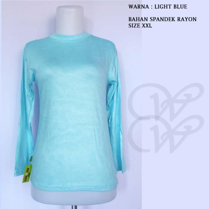 Foto Produk MANSET LIGHT BLUE SKY RR XXL SPANDEX RAYON SUPER INER BAJU DALEMAN dari Warung Wongkito