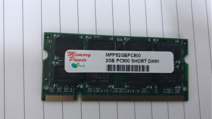 harga Memory laptop sodimm power 2gb ddr2 2rx8 pc6400 Tokopedia.com