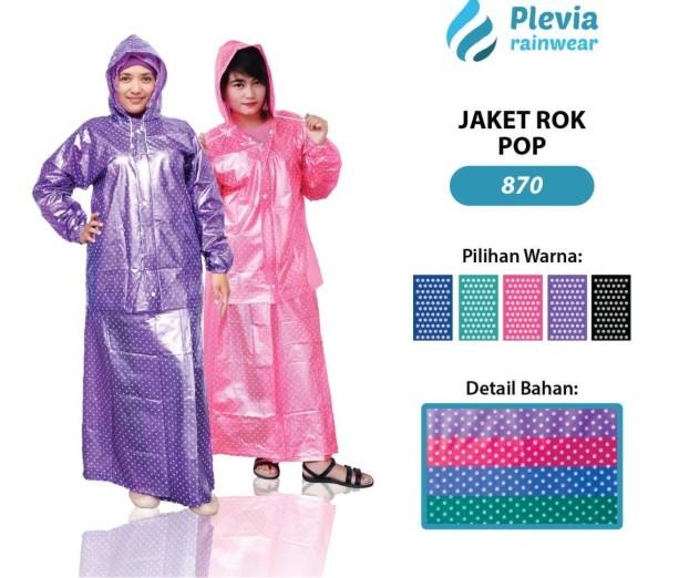 harga Jas hujan plevia polkadot jaket rok pop 870 Tokopedia.com