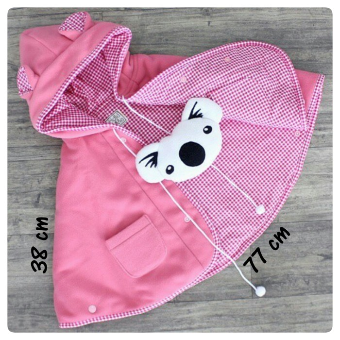 Baby Cape CuddleMe - Jaket Anak Multifungsi - Polos Warna Pink Salem