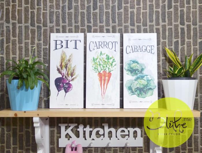 Jual Rustic Kitchen Wall Decor Per Set Bit Carrot Cabage Kota Malang Bluheme Shop Tokopedia