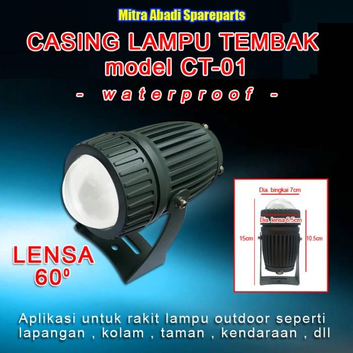 harga Casing lampu tembak/sorot ct-01 waterproof + lensa led 60 derajat Tokopedia.com