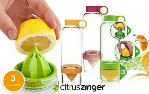 Citrus Zinger Water Bottle Twist Infused/ Botol Minum BPA Free .