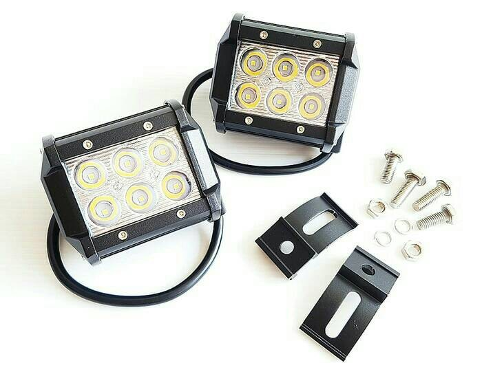 harga Lampu tembak cree sorot 6 led 18w spot mobil motor ! super terang! Tokopedia.com
