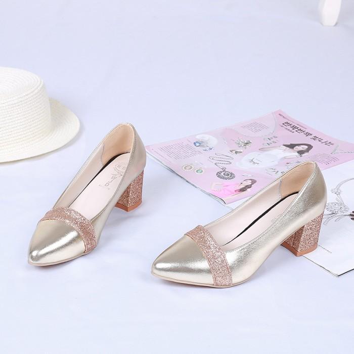 Sepatu wanita import grosir korea fashion shoes 50545 flat shoes manik