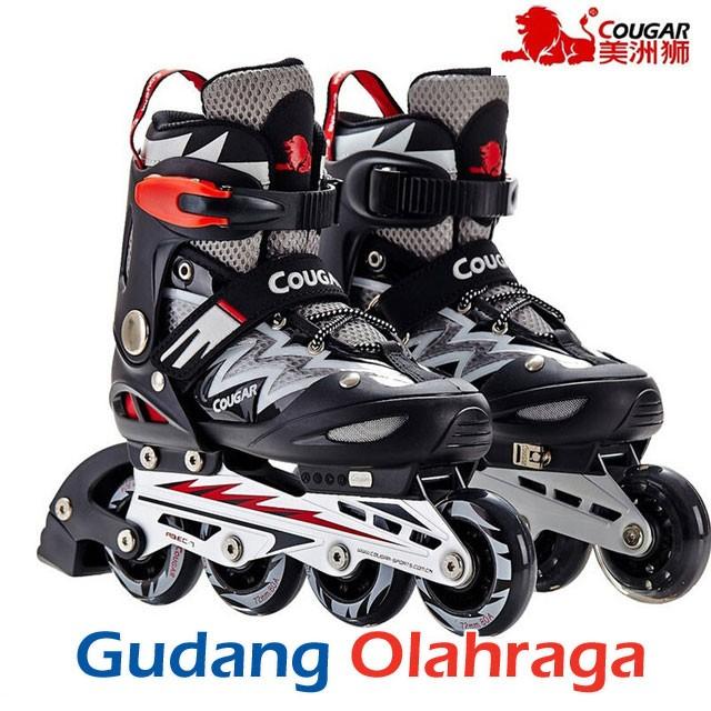 Jual Sepatu Roda COUGAR Inline Skate MZS835L Balck Silver - Gudang ... 00c45c61e7