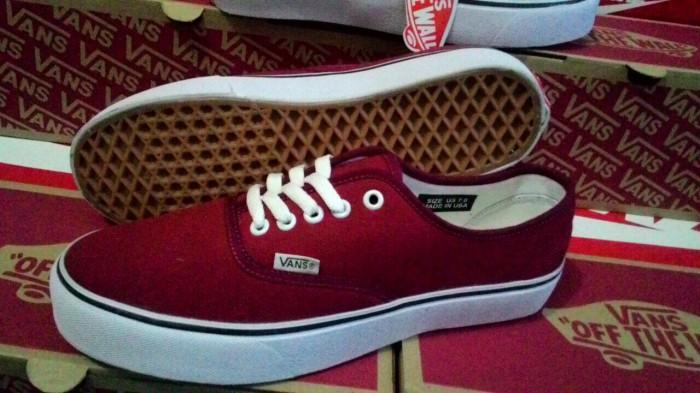 Jual Sepatu Vans Authentic Port Royale Merah Maroon Sole Gum